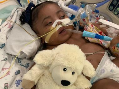 This undated photo provided by Texas Right to Life shows Tinslee Lewis. On Thursday, Jan. 2, 2020, a Texas judge sided with a hospital that plans to remove the 11-month-old girl from life support after her mother disagreed with the decision by doctors who say the infant is in pain and that her condition will never improve. (Courtesy of Texas Right to Life via AP)