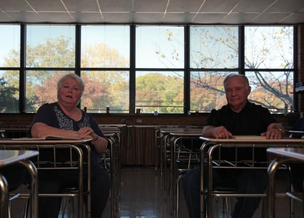 Bishop Lynch alumni Joan Ellinger Bertucci (left) and John Ganter recall their memories from Nov. 22, 1963. All school events in the upcoming weeks were canceled as students overcame shock and panic and sought normality.