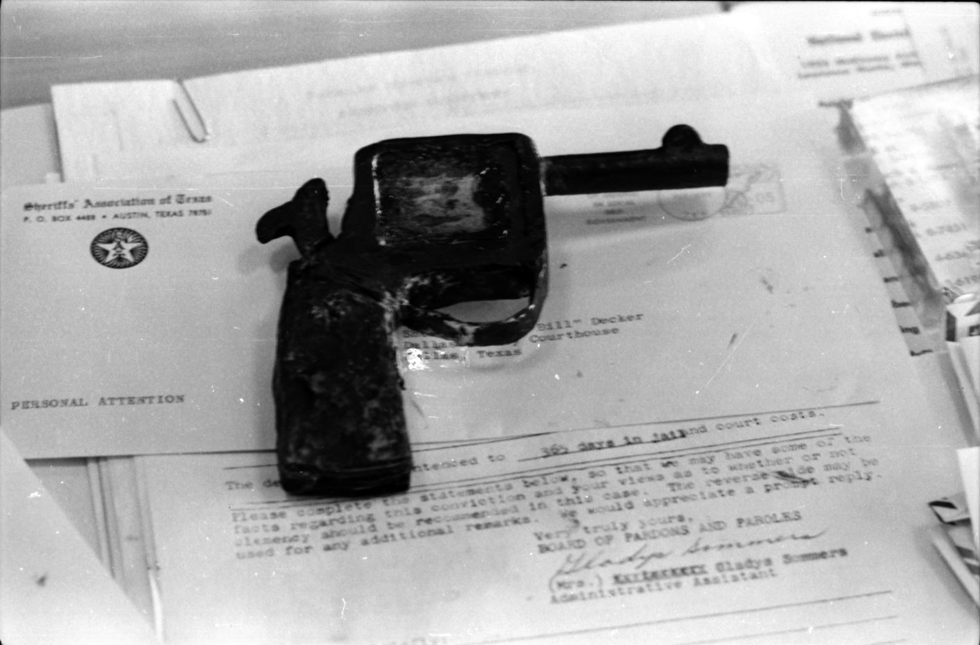 March 7, 1964 - Gun made of soap used in the jail break during the Jack Ruby trial.
