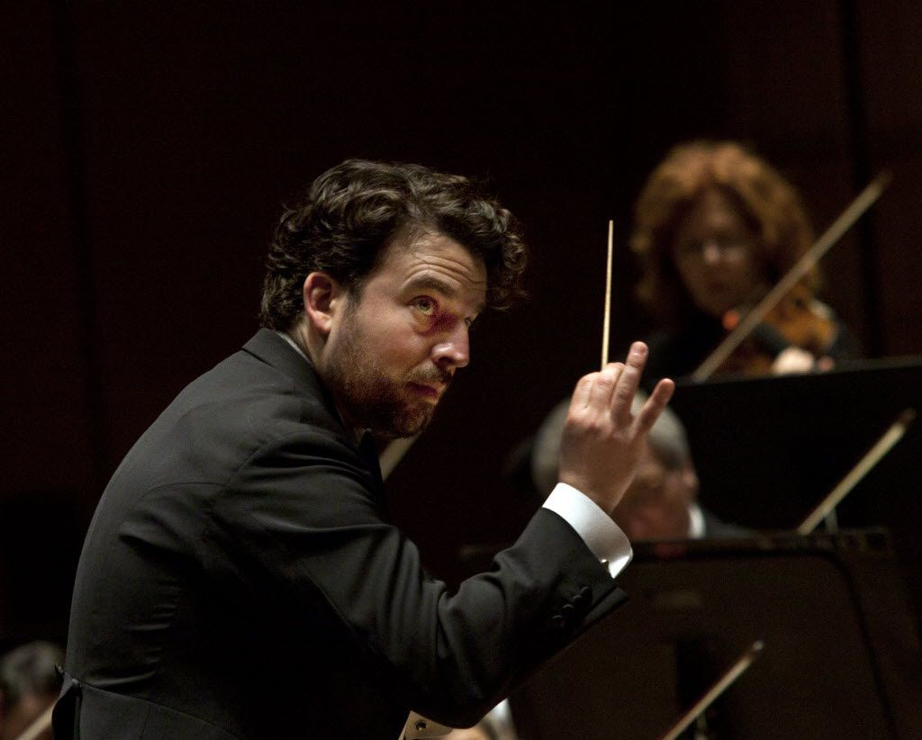 James Gaffigan conducts the Dallas Symphony Orchestra  on Jan. 29, 2015.