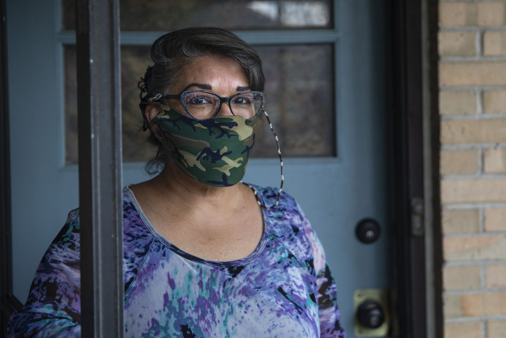 EneDina Rogers of Dallas is one of the many North Texans who are fearful of being evicted from their homes because of the pandemic's strain on the economy.