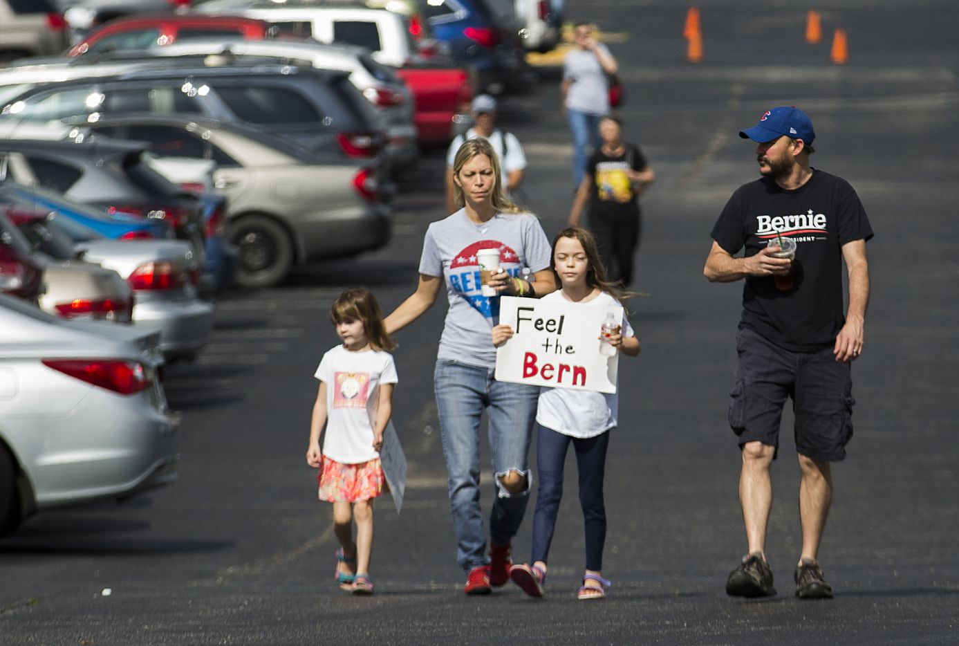 Supporters arrive for a rally by Vermont senator Bernie Sanders rally at the Verizon Theater on Thursday, April 20, 2017, in Grand Prairie, Texas. Sanders, the runner-up in the 2016 Democratic contest for president, appeared in North Texas to rally residents against President Donald Trump's agenda.