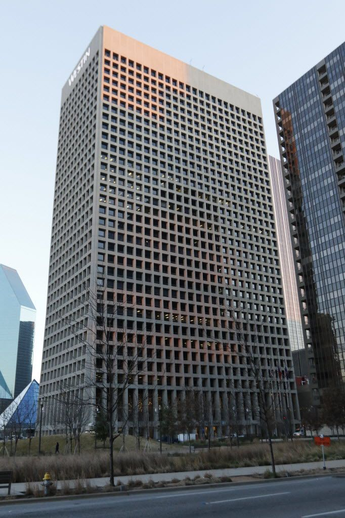 The Westin Downtown is at One Main Place in downtown Dallas. (David Woo/Staff Photographer)