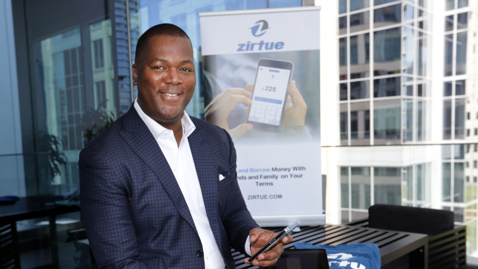 """""""Our big goal is to prove that friends and family are the biggest bank in the world,"""" says Zirtue creator Dennis Cail, at his office in Dallas. """"We're on a mission to drive financial inclusion in North America and abroad."""""""