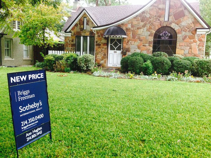 Dallas County home prices were down by almost 4%.