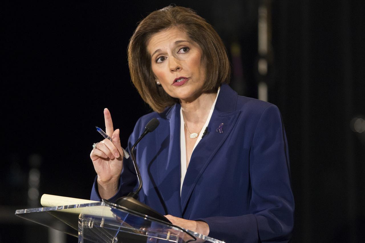 La nueva senadora federal Catherine Cortez Masto. (AP/Erik Verduzco)