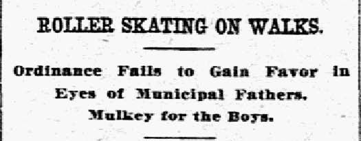 Headline from the Feb. 7, 1909, issue of The Dallas Morning News.