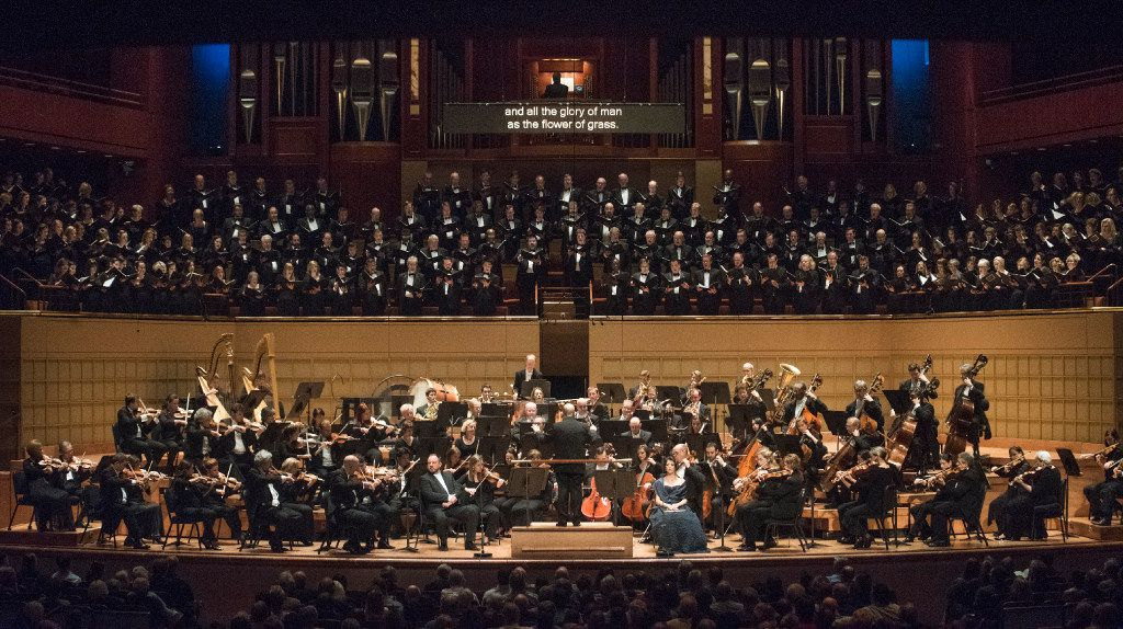 Members of the Dallas Symphony Orchestra perform Brahms (A German Requiem) Thursday, Oct. 6, 2016 at the Morton H. Meyerson Symphony Center.   (Rex C. Curry/Special Contributor)