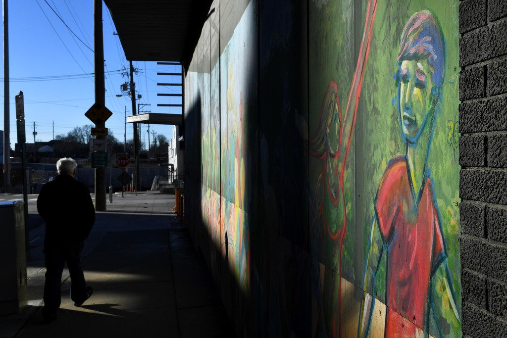Murals in the Warehouse District allude to the neighborhood's new stature as a center for contemporary art.