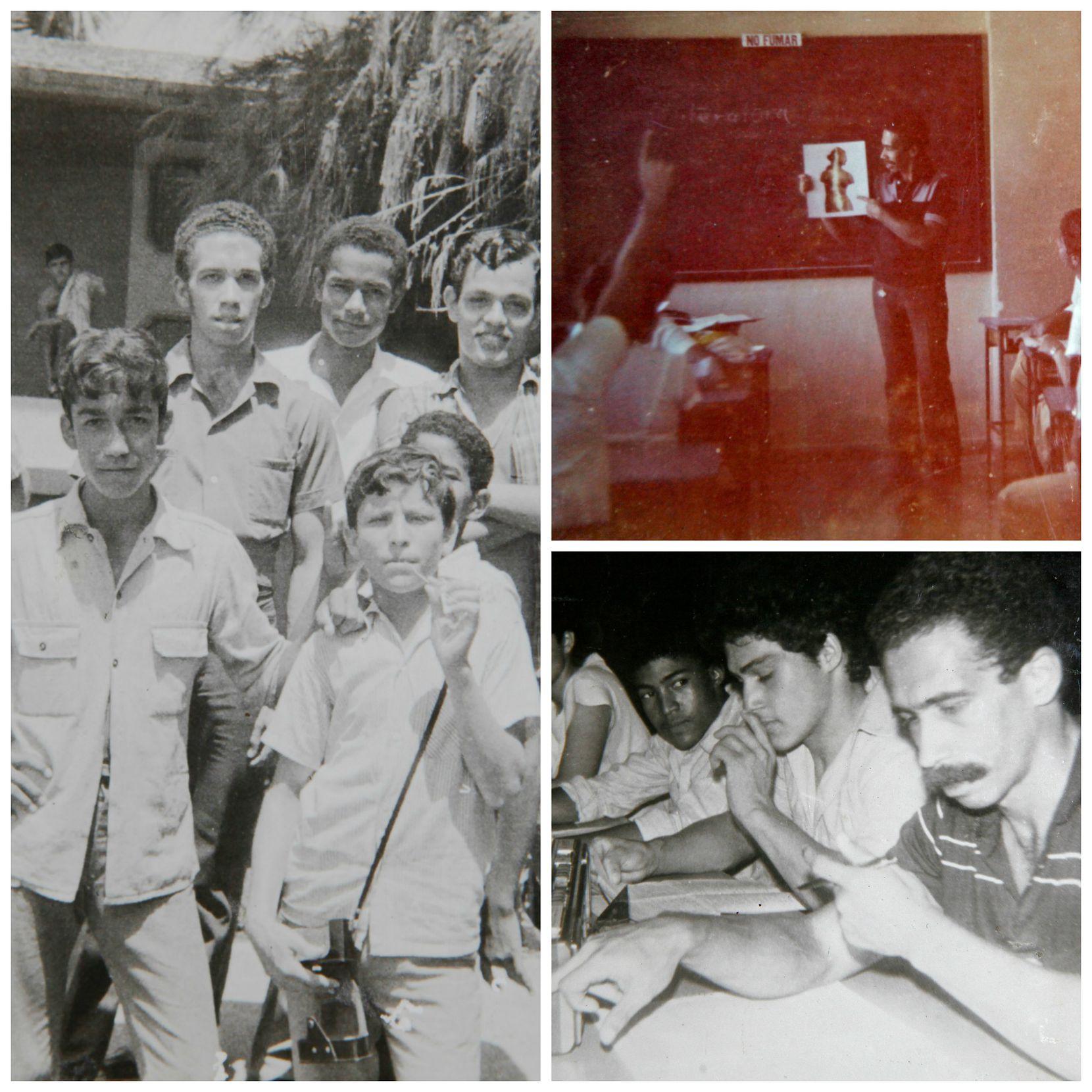 El profesor Francisco Morán daba clases en un internado a dos horas de La Habana. (CORTESÍA FRANCISCO MORÁN)