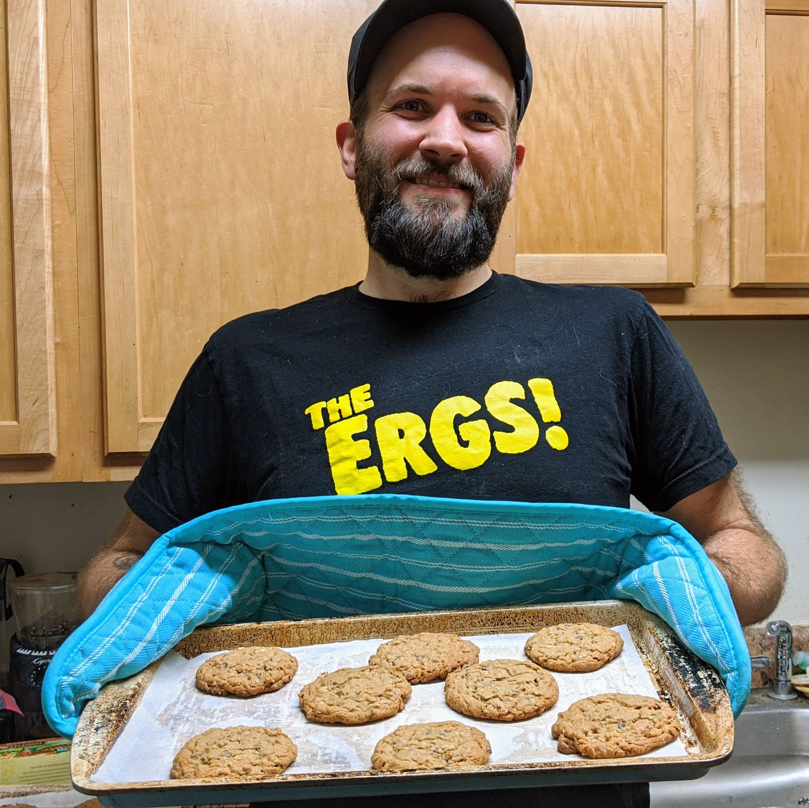 "John Flynn of Baltimore made cookies for the new Facebook group ""The Great COVID Bake-Off"""