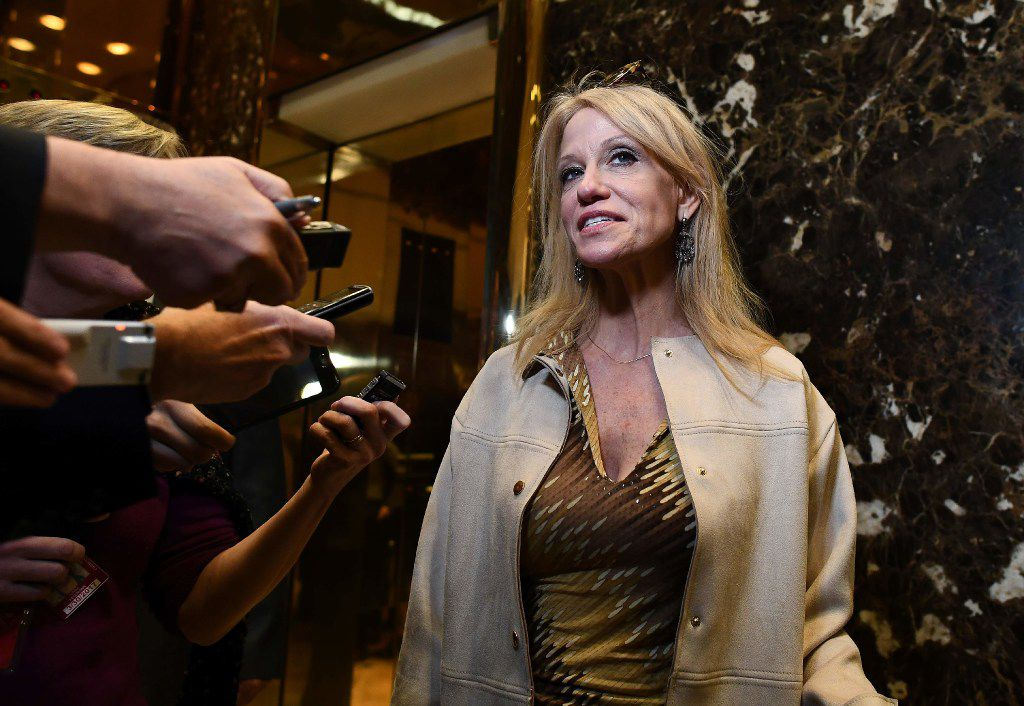 Kellyanne Conway speaks to reporters at Trump Tower. (File Photo/Agence France-Presse)