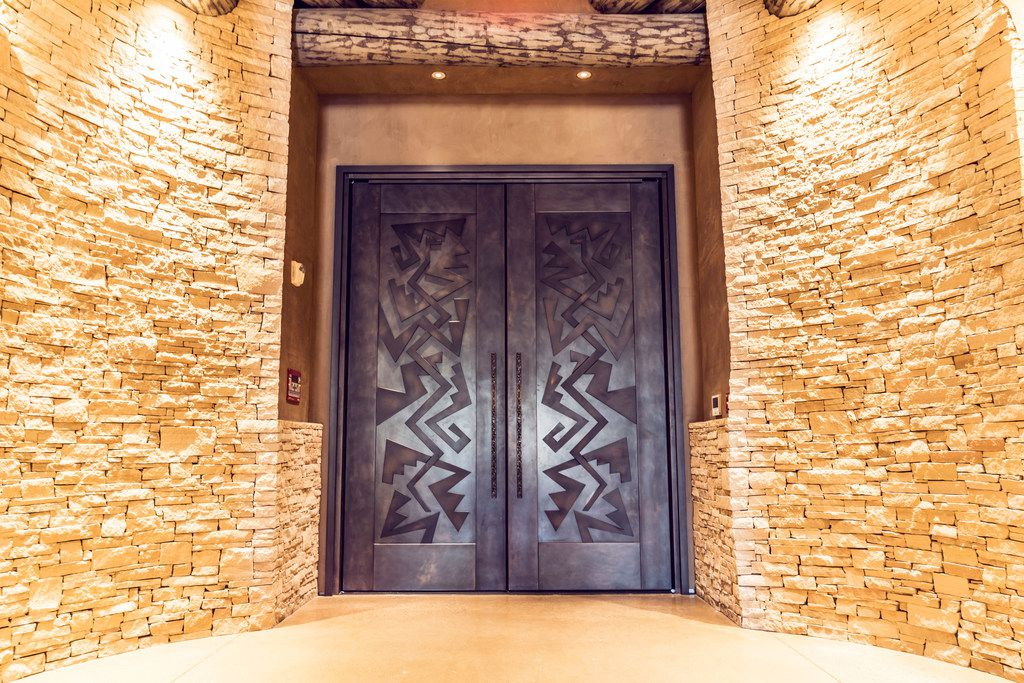 Entry doors at Hotel Chaco in ALbuquerque, N.M.