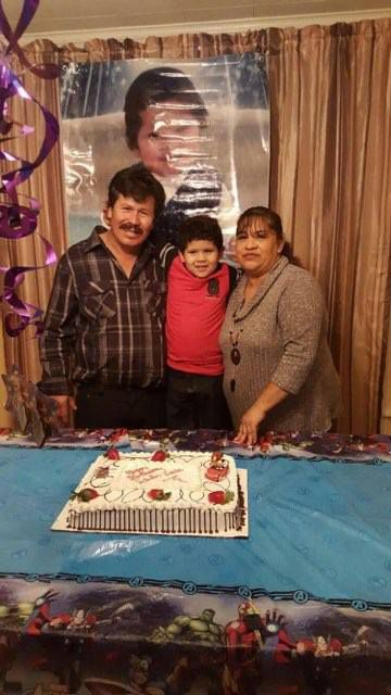 "Jacinto Mireles and wife Audelia Sandoval celebrating son Edwin's birthday in 2016. ""He's just a human being who never did anything wrong to anyone,"" daughter Kiabeth Mireles said of her father."