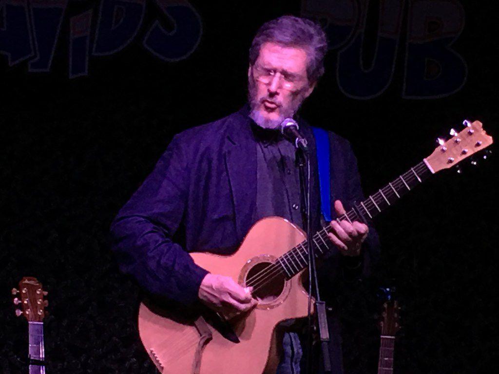 Singer-songwriter Pierce Pettis performs at Poor David's Pub in Dallas on Feb. 15.