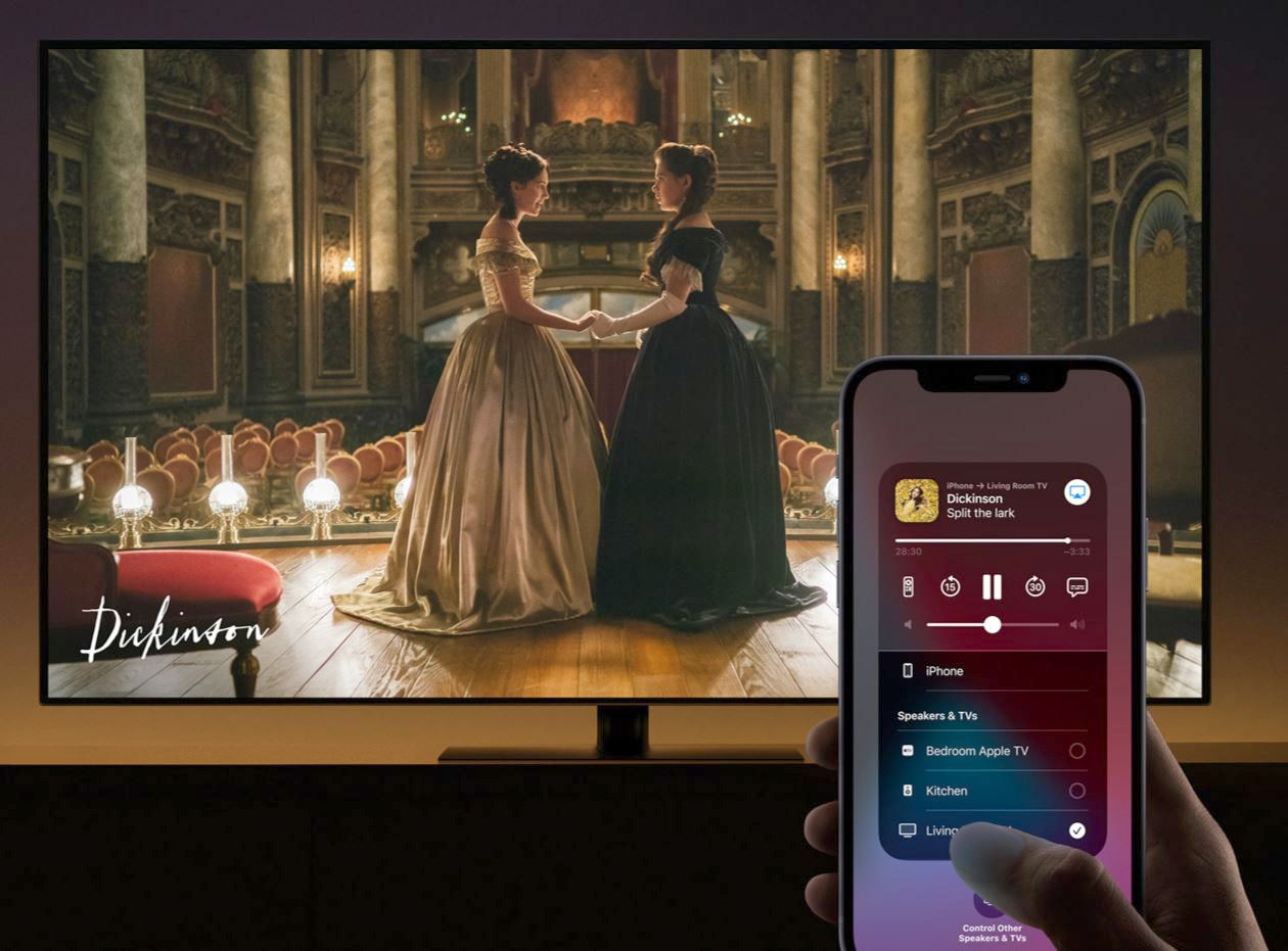 AirPlay lets you wirelessly mirror your iPhone's screen to a TV.