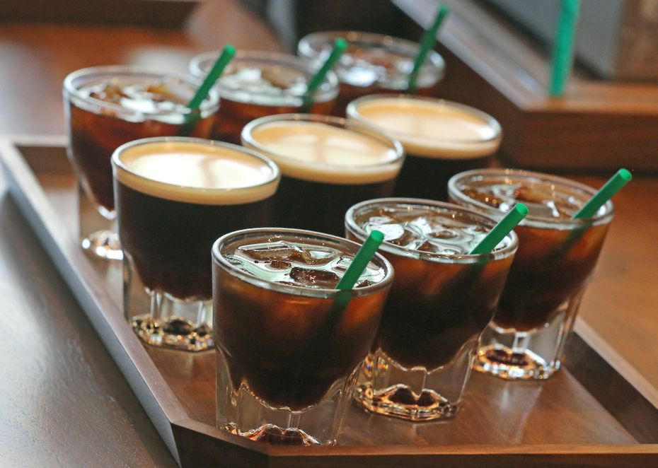 Customers can order a flight of cold brew, which includes 8-ounce samples of 'regular' cold brew, microblend cold brew and nitro cold brew. It's a lot of caffeine.