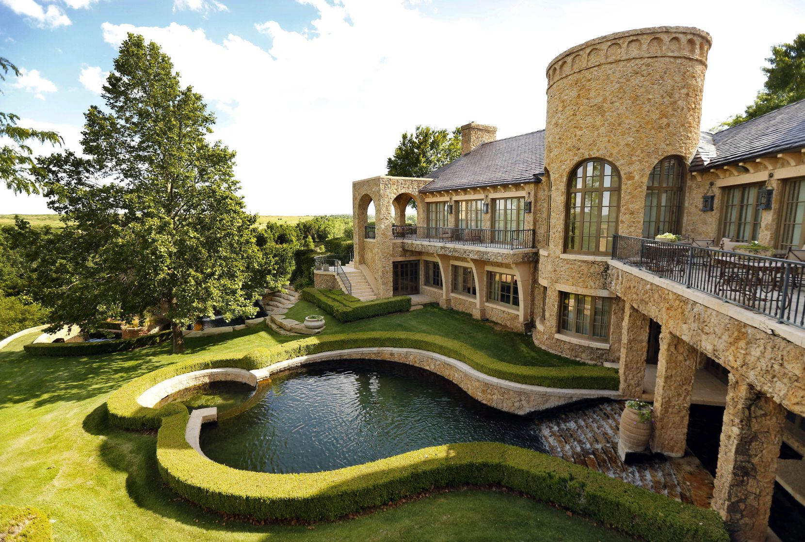 T. Boone Pickens' Mesa Vista Ranch in the Panhandle of Texas has a guest lodge, family house and other buildings.