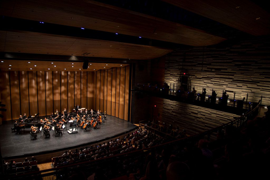 The Dallas Chamber Symphony  in concert at Moody Performance Hall in Dallas on April 30, 2019.