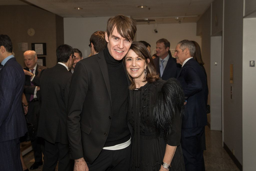 Ken Downing, senior vice president and fashion director at Neiman Marcus Stores, with Karen Katz at a retirement party at the Zodiac Room on Monday, Feb. 5