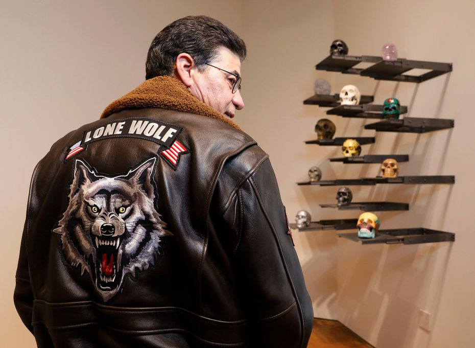 """Bobby Haas has a leather jacket that features a snarling wild animal beneath the words """"Lone Wolf"""" — biker lingo for a rider who isn't affiliated with a gang or club. """"I've been a lone wolf my entire life,"""" he says."""