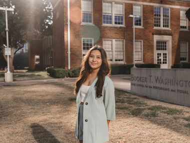 """As the winner of a national musical theater songwriting contest, 17-year-old Xyzsa Pagaduan got to see her song, """"Left-over Love,"""" given the Broadway treatment. Pagaduan is a senior at Booker T. Washington High School for the Performing and Visual Arts."""