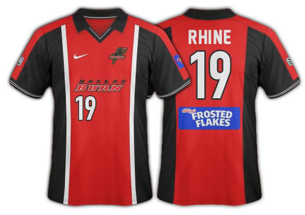 2002 Dallas Burn black and red done in an Ajax style.