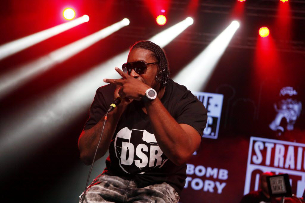 Big Tuck of the rap group Dirty South Rydaz performed without the rest of the group during The D.O.C. Straight Outta Dallas Hip Hop event, on Saturday, Oct. 17, 2015 at The Bomb Factory in Dallas. The event included a red carpet, DJ music and performances by A.Dd+, Big Tuck, Erykah Badu and The D.O.C.
