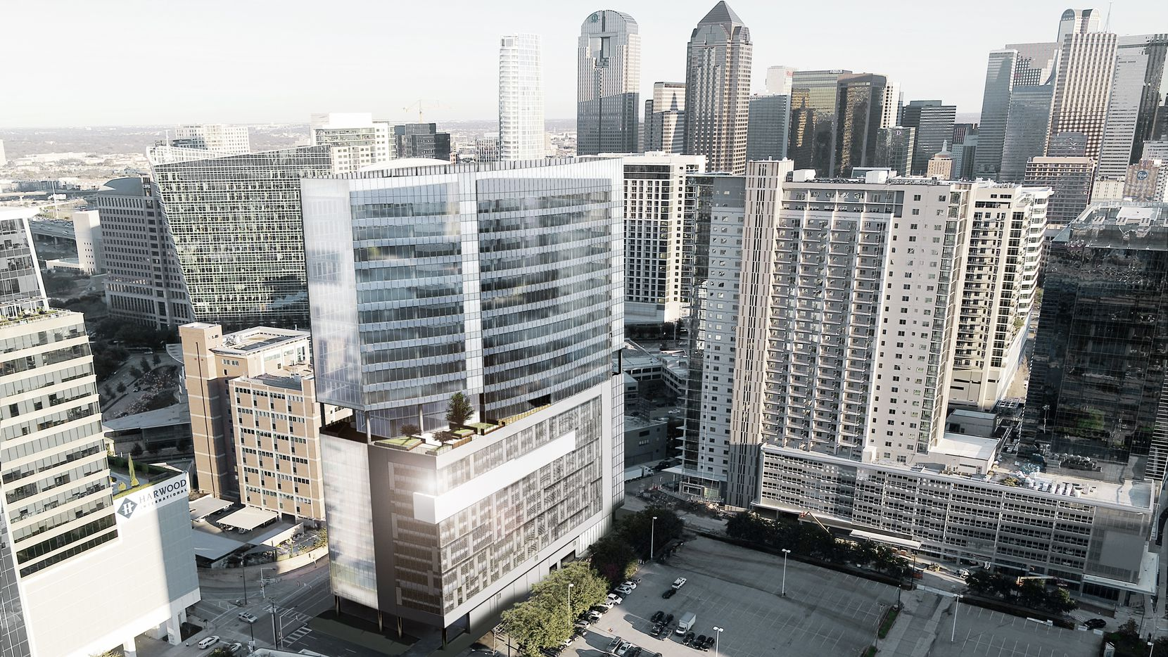 The Link at Uptown tower is planned just north of downtown and next to the new Union Dallas development.