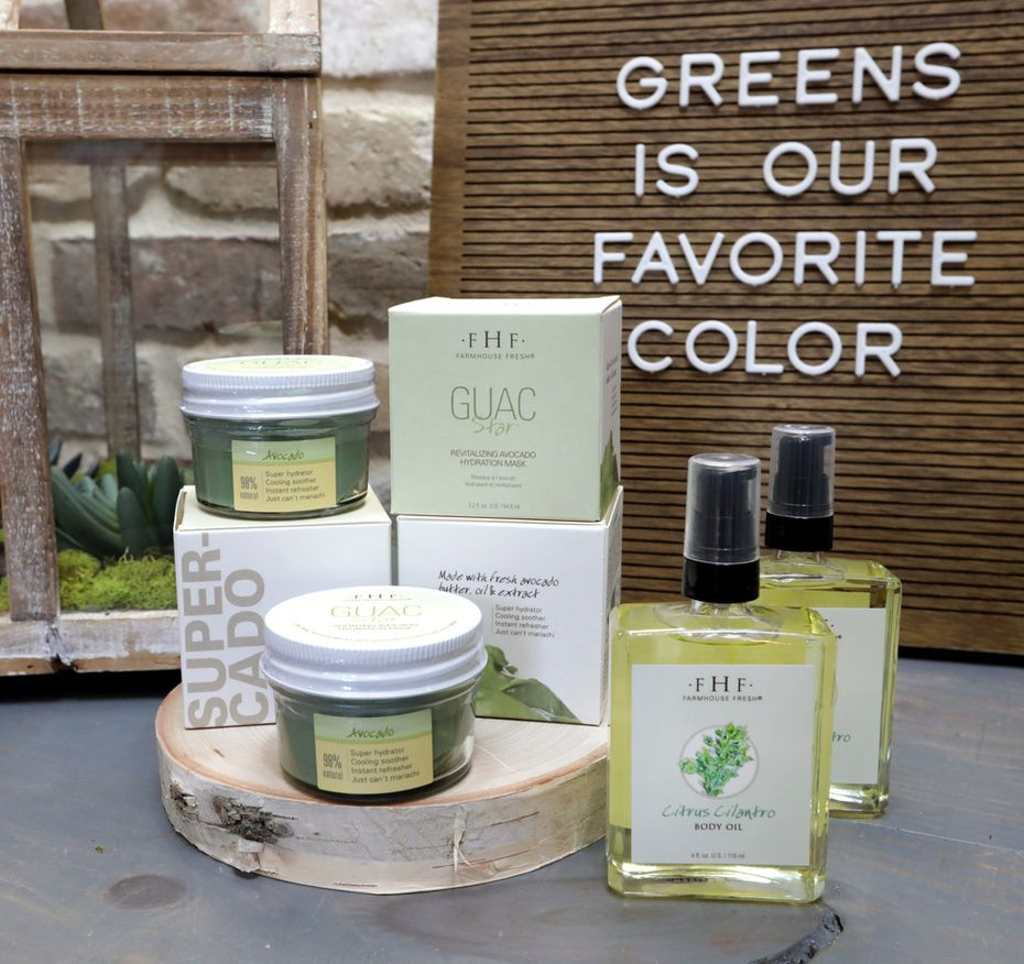 A sampling of FarmHouse Fresh products.