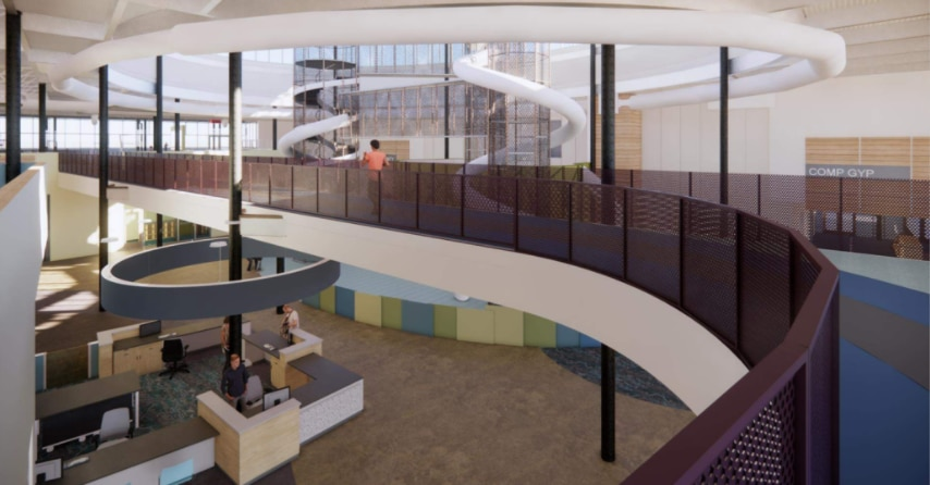 Renderings of the future Stephen G. Terrell Recreation Center in Allen, created by BRS Architects.