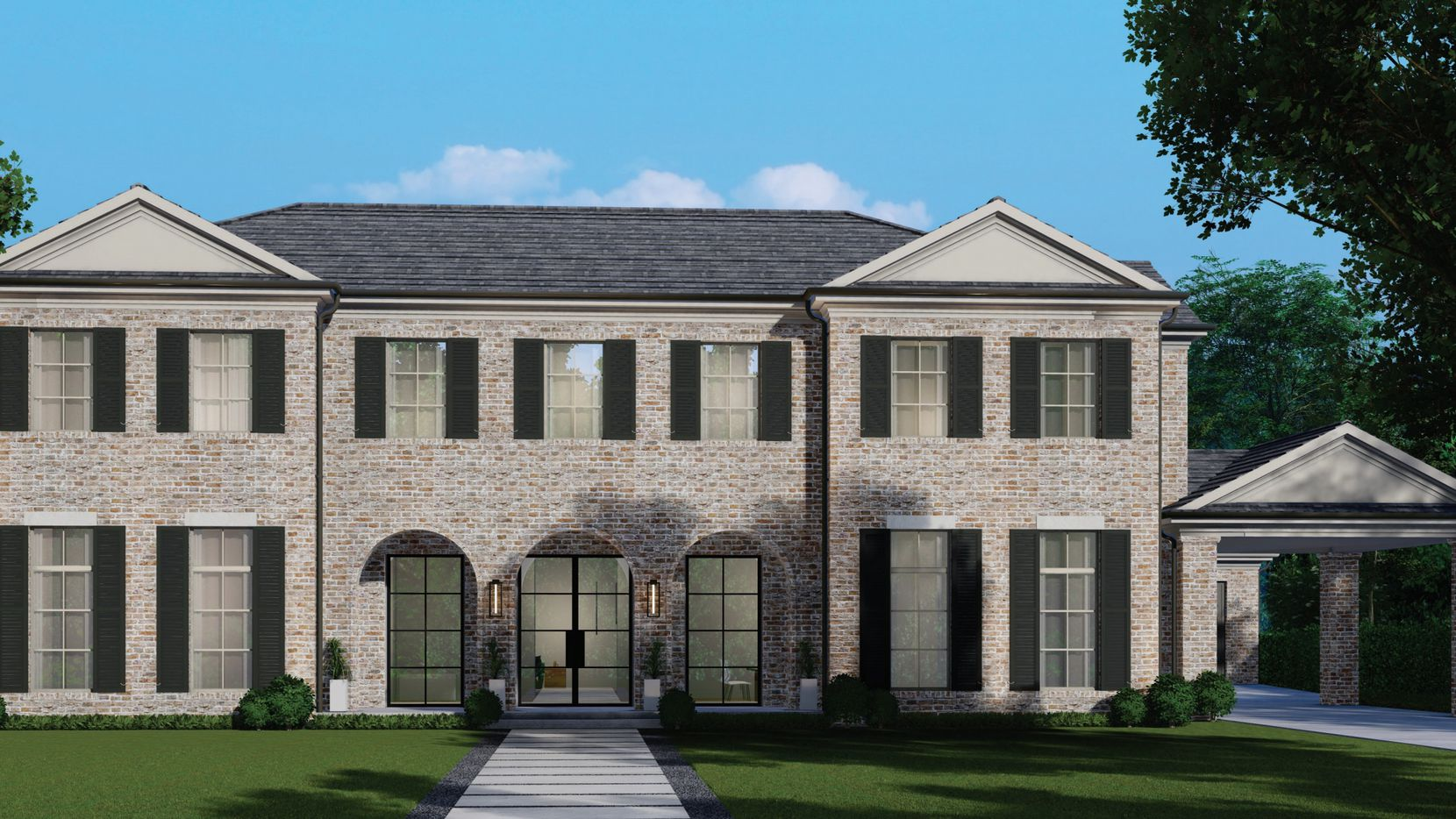 "One of Olerio Homes' new Northwest Dallas houses offered for sale is a five bedroom, $1.995 million house at 6711 Robin in the ""bird"" streets."