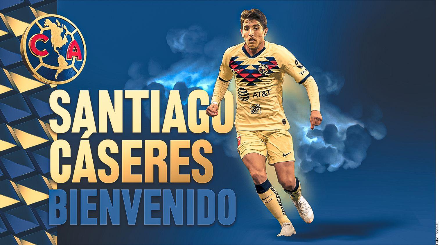 Las Águilas del América hicieron oficial la contratación del mediocampista argentino Santiago Cásares.