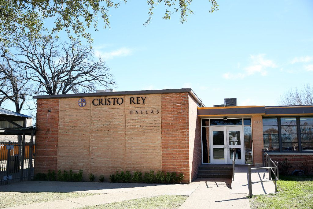 Cristo Rey Dallas College Preparatory School is in the Pleasant Grove neighborhood of Dallas. (Andy Jacobsohn/The Dallas Morning News)