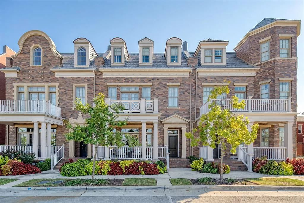 At 4,000-plus square feet, the Garden District brownstone has four bedrooms and an outdoor area with a fireplace.