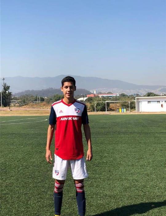 Kevin Rosas llegó en marzo a la academia del FC Dallas.