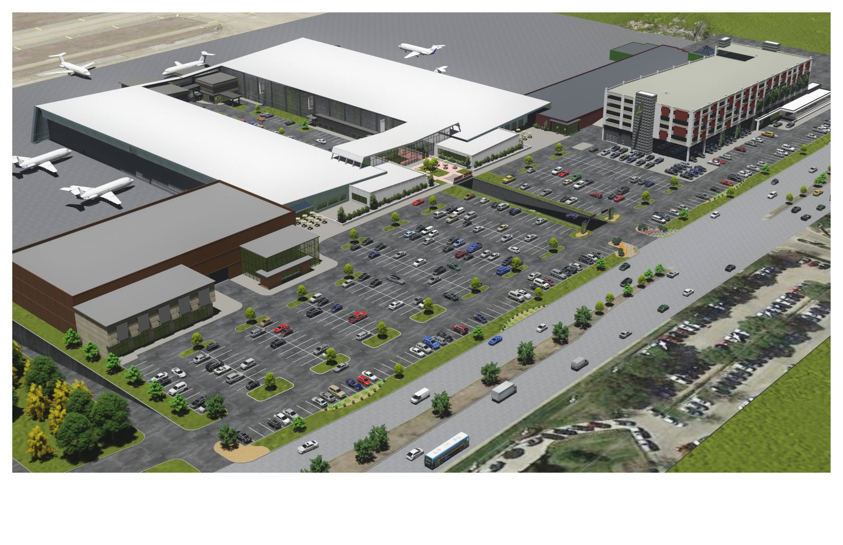 The redeveloped aviation complex will be called Braniff Centre.