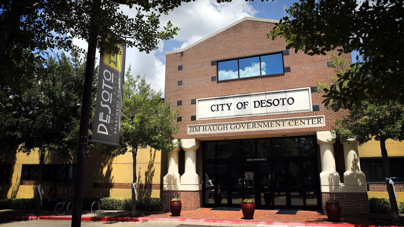 The City of DeSoto's Jim Baugh Government Center is pictured in DeSoto Town Center in DeSoto, Texas, Wednesday, June 24, 2020.