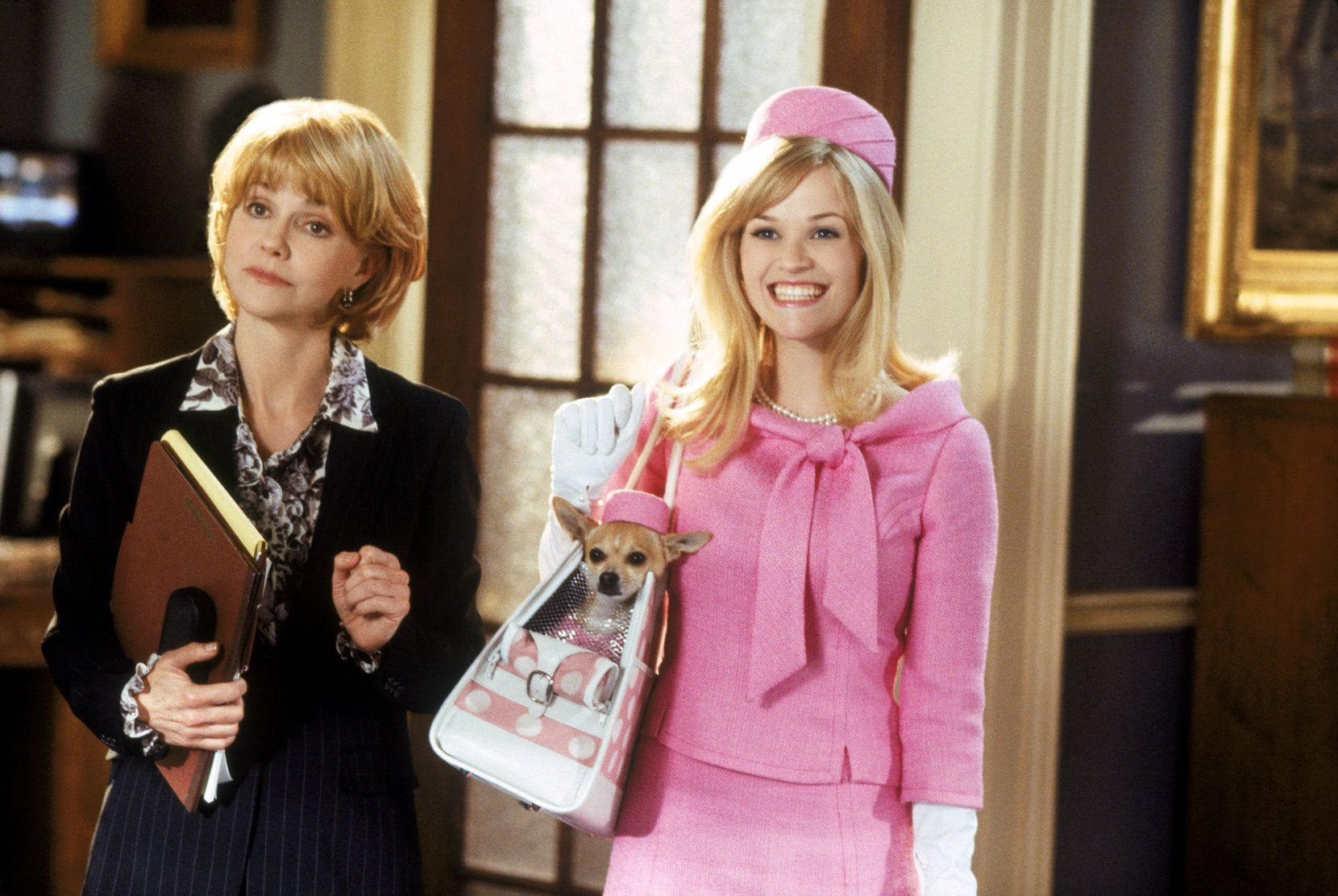 """Reese Witherspoon (right) returned as Elle Woods in  the 2003 sequel """"Legally Blonde 2: Red, White and Blonde"""" with Sally Field as  Congresswoman Rudd."""