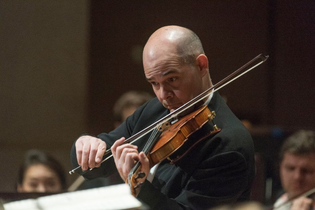 """Violinist Alexander Kerr performs Sergei Prokofiev's """"Concerto No. 1 in D major for Violin and Orchestra, Op. 19"""" with the Dallas Symphony Orchestra on Thursday.   (Rex C. Curry/Special Contributor)"""