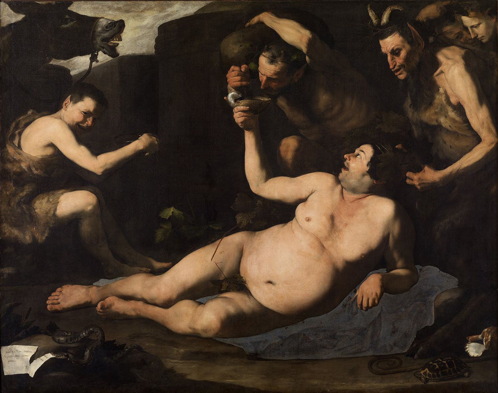 "Jusepe de Ribera's ""Drunken Silenus"" is one of two masterpieces by the Spanish-born Neapolitan painter to be included in the exhibition."