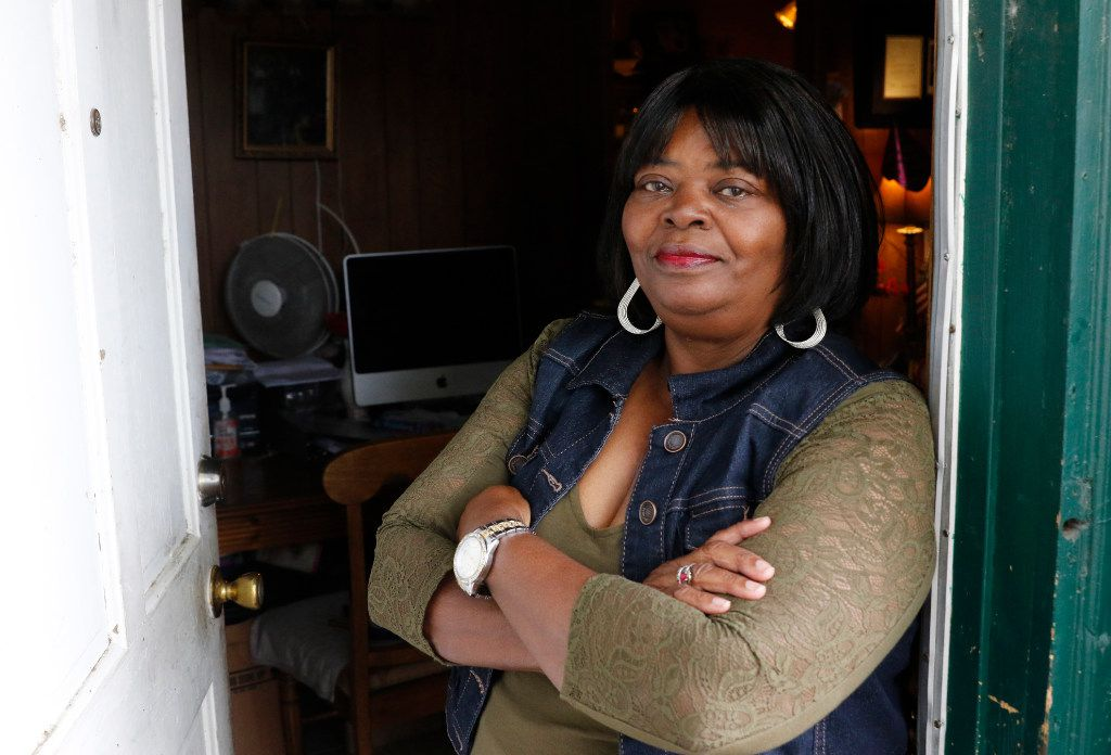 Pat Stephens, 67, poses for a portrait in her home on Thursday, April 27, 2017 in Dallas, Texas. She is among dozens of potential victims of voter fraud this election cycle in West Dallas and Grand Prairie. A suspicious man came to her door claiming to work for Dallas County and asking for her mail-in ballot. She instead demanded to see his driver's license and she took a photo of it. (David Woo/The Dallas Morning News)