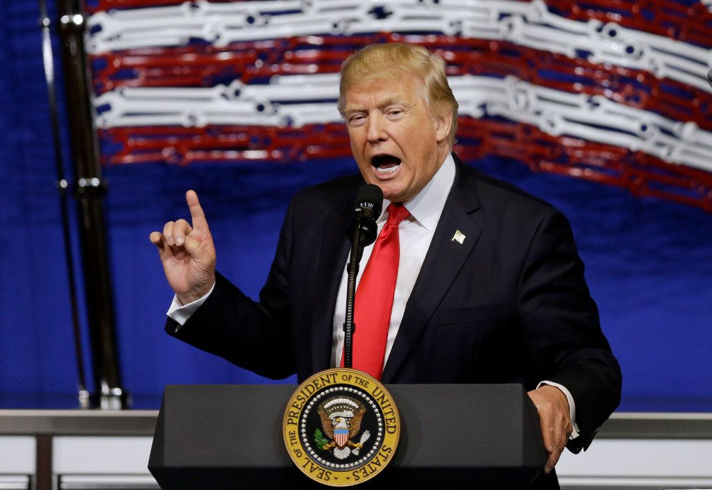 In this April 18, 2017, file photo, President Donald Trump speaks at Snap-On Tools in Kenosha, Wis. The president hopes to revive the economic populism that helped drive his election campaign, signing an order in politically important Wisconsin to tighten rules on technology companies bringing in highly skilled foreign workers. (AP Photo/Kiichiro Sato, file)