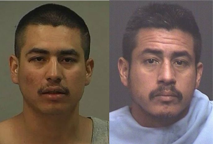 At left is David Martin Ruiz's photo released by police in 2008. At right is his booking mug after he was picked up by U.S. Border Patrol in Arizona.