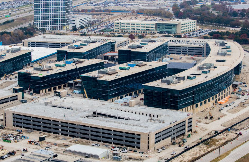 The buildings have 12 acres of glass. (Ashley Landis/The Dallas Morning News)