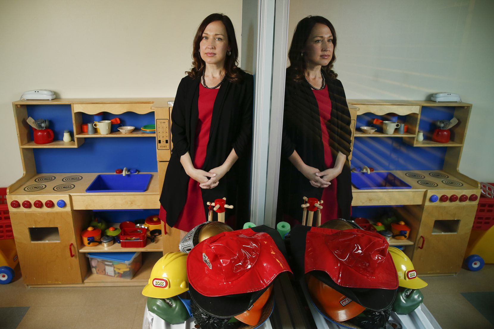 "Momentous Institute executive director Jessica Trudeau, photographed in one of the operation's temporarily closed play therapy rooms, says ""our African American and Latinx families, especially those with economic challenges, are being disproportionately impacted"" by the pandemic."