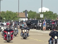 "The ""Back the Blue Cruise"" on Sunday Aug. 2 in Bedford, Tex."