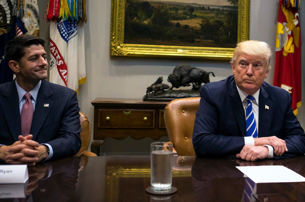 House Speaker Paul Ryan, R-Wis., met with President Donald Trump and others Sept. 5 at the White House.
