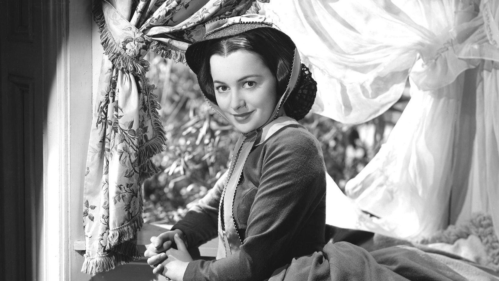 Actress Olivia de Havilland is shown in a scene from  the 1939 film 'Gone With The Wind' for which she receive her first Academy Award nomination.