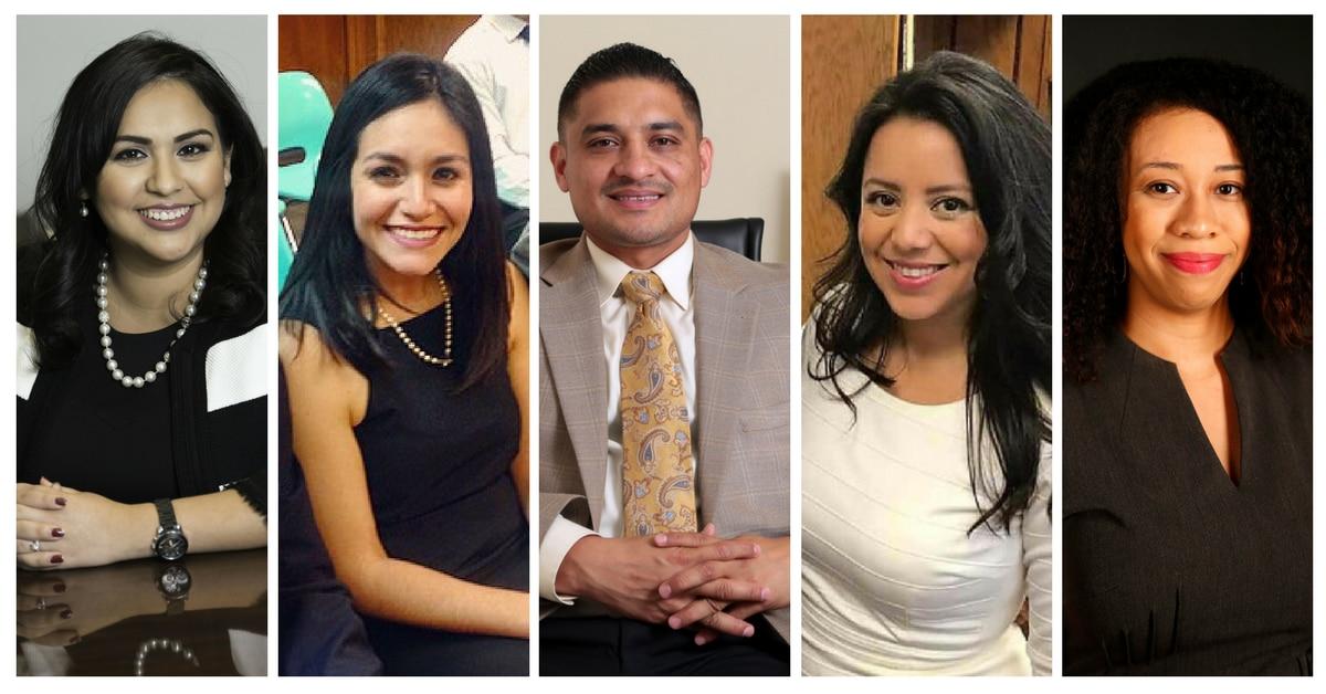 Algunos de los graduados del Latino CLD:  Mónica Lira Bravo, Claudia Sandoval, Jaime Reséndez, Victoria Neave, y Dominique Torres. (ARCHIVO/AL DÍA)